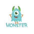 Monster - Aqua Child v1 by Jessica Cushen