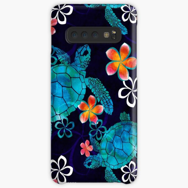 Sea Turtle with Flowers Samsung Galaxy Snap Case