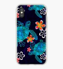 Sea Turtle with Flowers iPhone Case