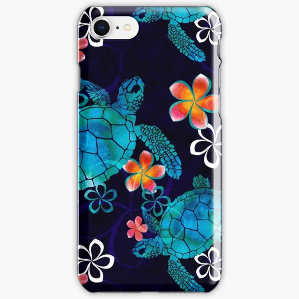 Sea Turtle with Flowers iPhone Snap Case