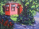 The Pink House Original Painting by Karen Ilari