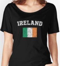 Irishman Flag Shirt - Vintage Ireland T-Shirt Women's Relaxed Fit T-Shirt