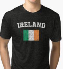 Irishman Flag Shirt - Vintage Ireland T-Shirt Tri-blend T-Shirt