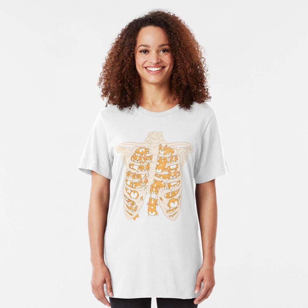 Corgis for Organs Slim Fit T-Shirt