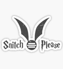 Snitch Please Sticker