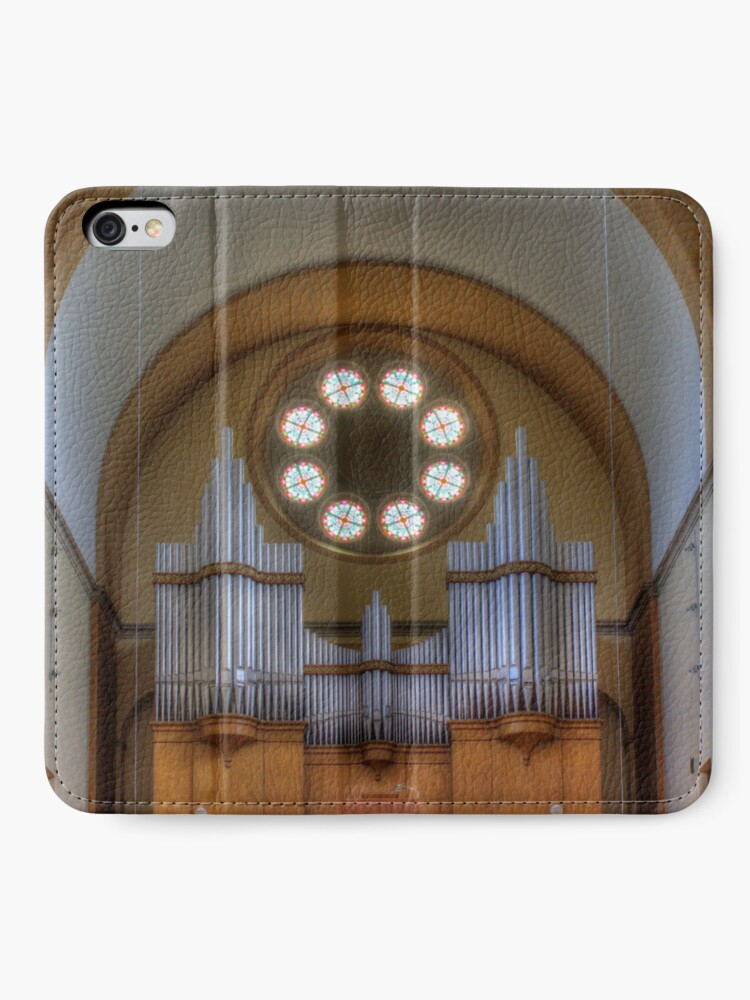 Alternate view of Pipe Organ St. Francis of Assisi Church, Vienna Austria iPhone Wallet
