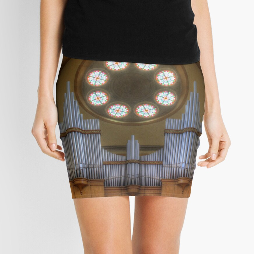 Pipe Organ St. Francis of Assisi Church, Vienna Austria Mini Skirt