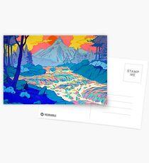 Fluss Postkarten