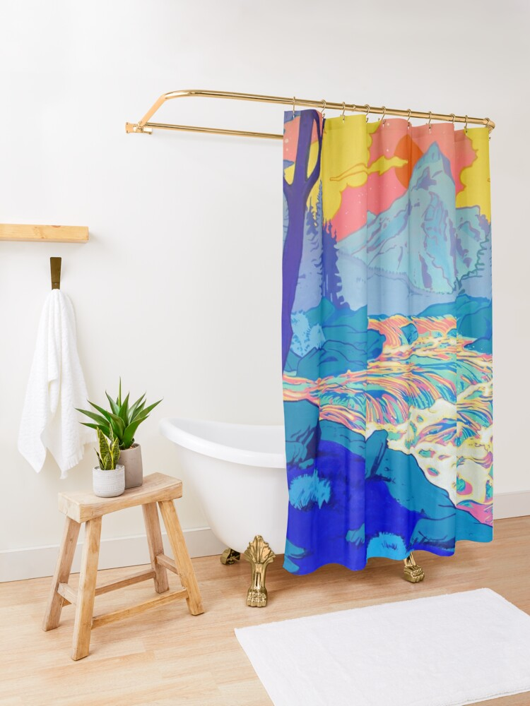 Alternate view of River Shower Curtain