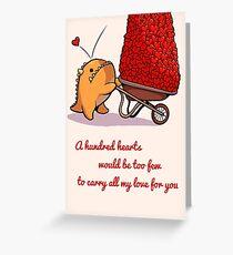 a Hundred Hearts Greeting Card