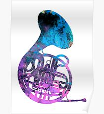 french horn music Poster