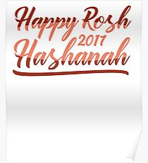 Happy Rosh Hashanah 2017 T-Shirt Poster