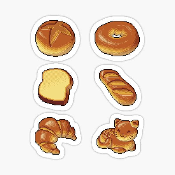 Pixel Bread Sticker