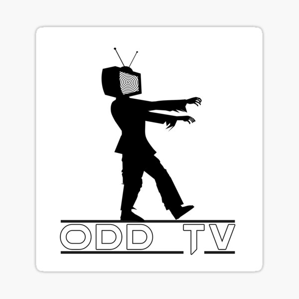 ODD TV Television Zombie Logo Sticker