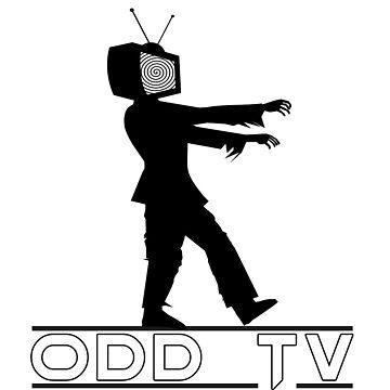 ODD TV Television Zombie Logo by ODDTV
