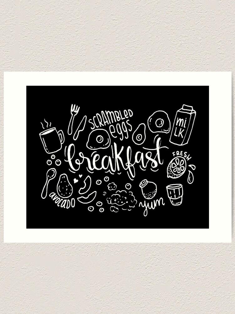 Alternate view of Breakfast - illustrated food pattern Art Print