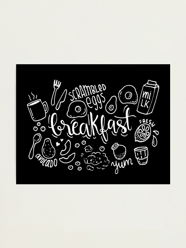 Alternate view of Breakfast - illustrated food pattern Photographic Print