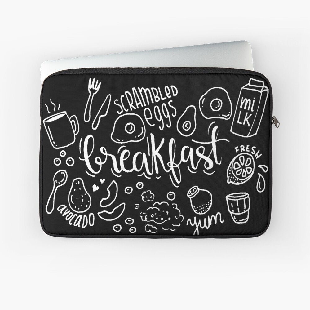 Breakfast - illustrated food pattern Laptop Sleeve