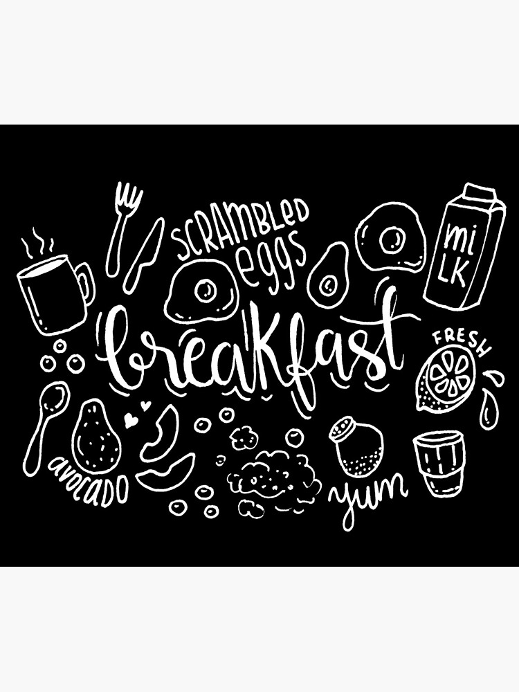 Breakfast - illustrated food pattern by mirunasfia