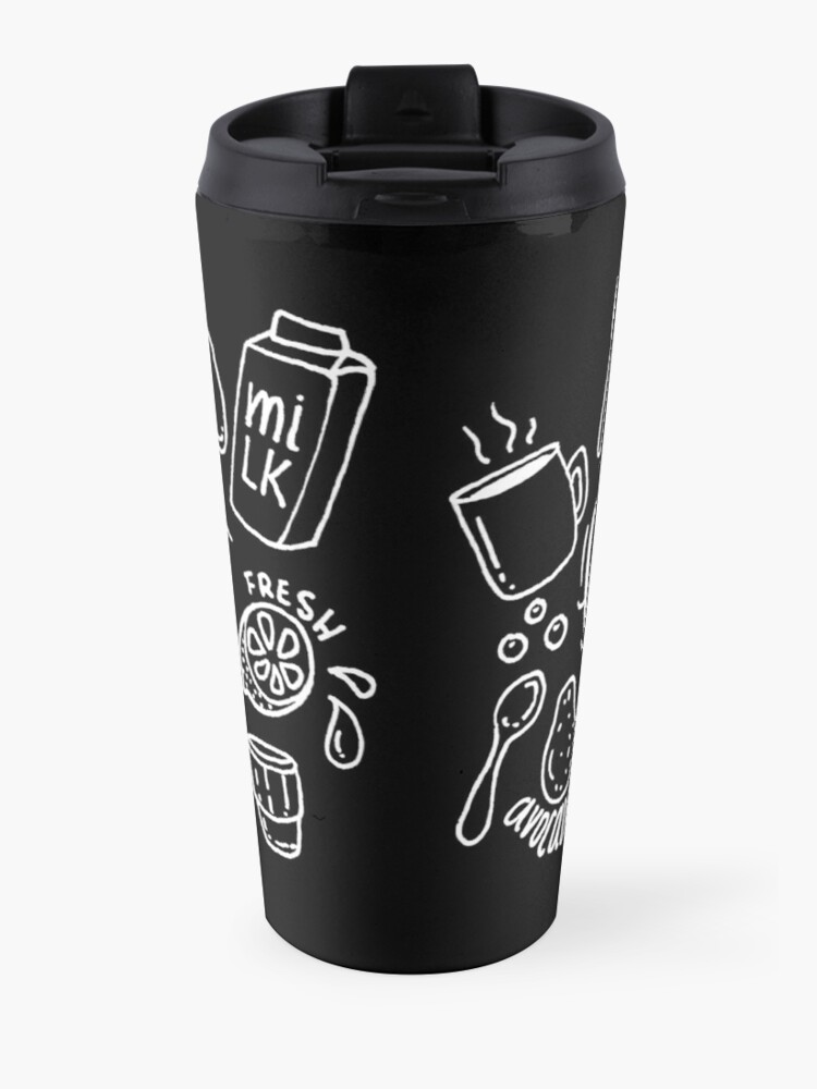 Alternate view of Breakfast - illustrated food pattern Travel Mug