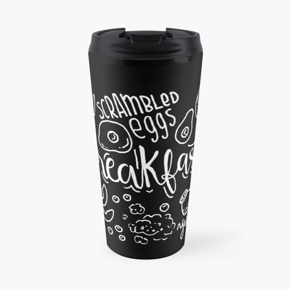 Breakfast - illustrated food pattern Travel Mug