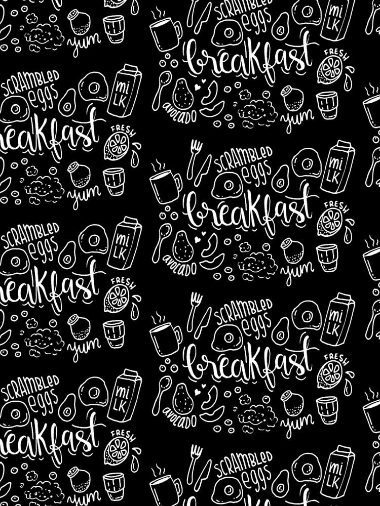 Breakfast - illustrated food pattern by mirunasfia