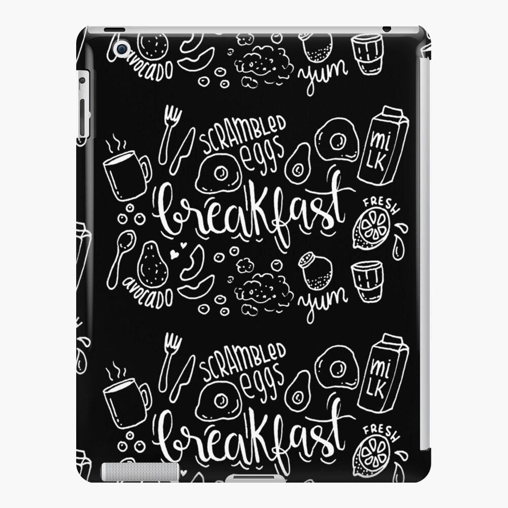 Breakfast - illustrated food pattern iPad Case & Skin