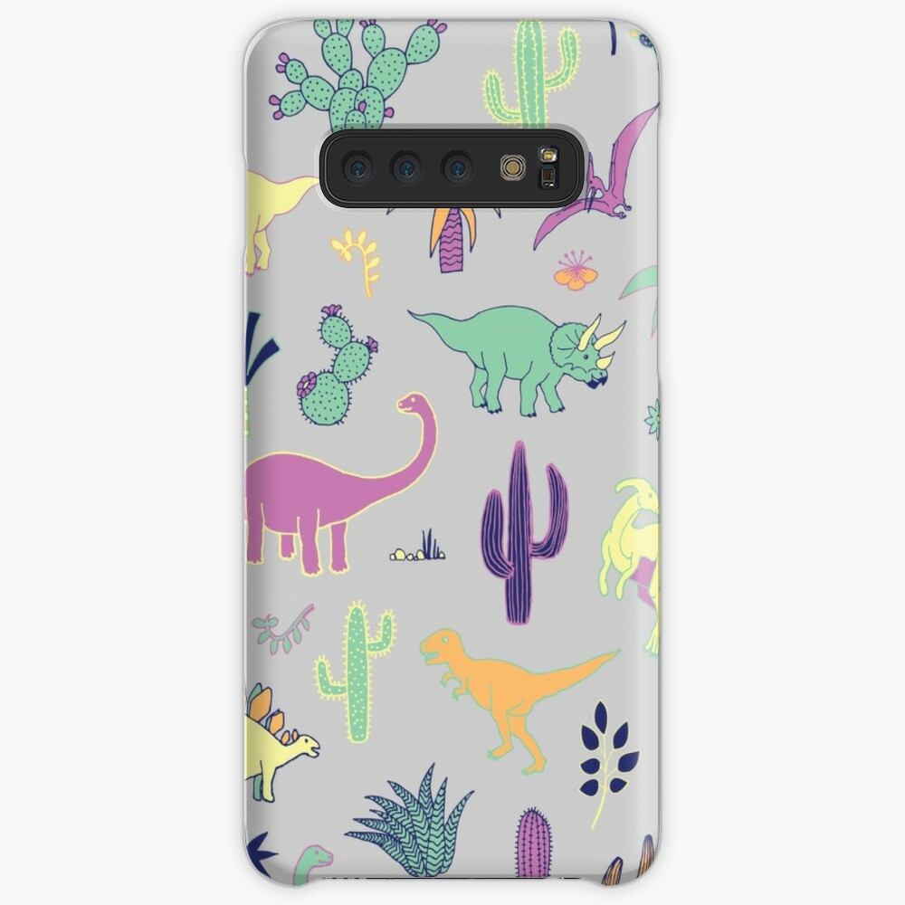 Dinosaurier-Wüste - Pfirsich, Minze und Marine - Spaßmuster durch Cecca Designs Hüllen & Klebefolien für Samsung Galaxy