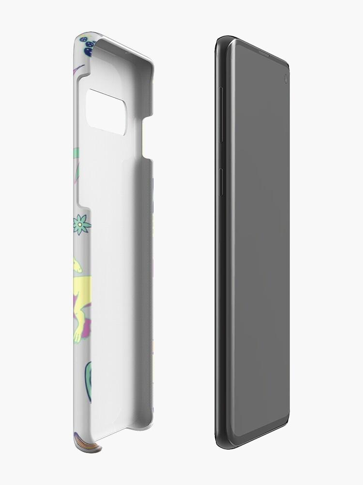 Alternative Ansicht von Dinosaurier-Wüste - Pfirsich, Minze und Marine - Spaßmuster durch Cecca Designs Hüllen & Klebefolien für Samsung Galaxy