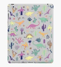 Dinosaur Desert - peach, mint and navy - fun pattern by Cecca Designs iPad Case/Skin