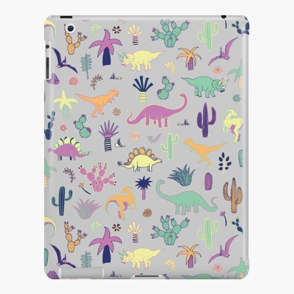 Dinosaur Desert - peach, mint and navy - fun pattern by Cecca Designs iPad Snap Case