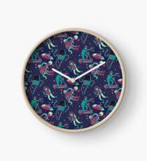 Space Warriors Pattern Clock