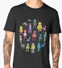 Robots in Space - black Men's Premium T-Shirt