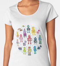 Robots in Space - black Women's Premium T-Shirt