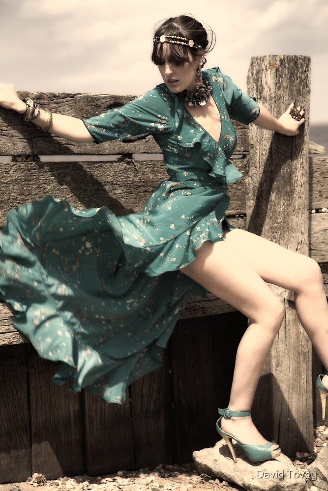 Dance in a green dress  by David Tovey