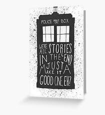 Dr Who Tardis Greeting Card