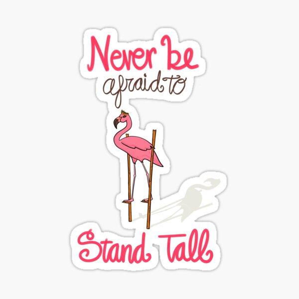 Pink Flamingo on Stilts Sticker