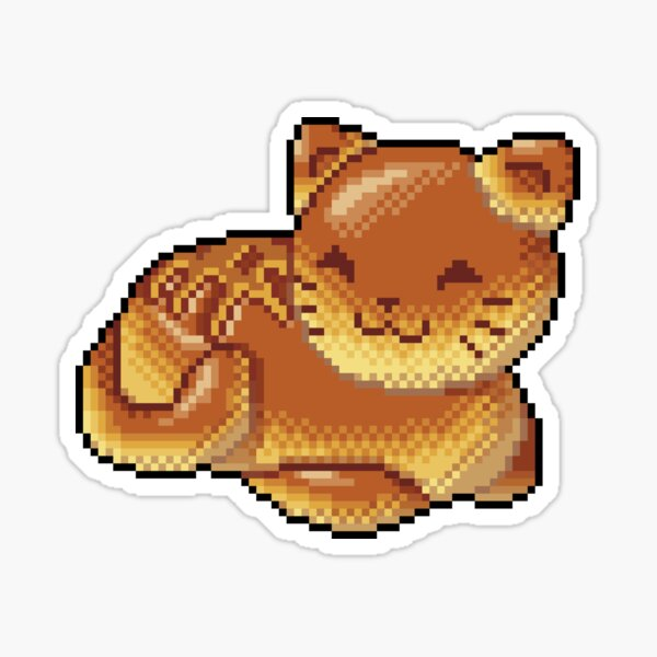 Pixel Bread Cat Sticker
