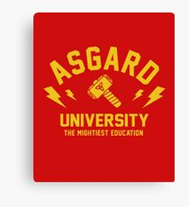 Asgard University - The Mightiest Education Canvas Print