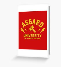 Asgard University - The Mightiest Education Greeting Card