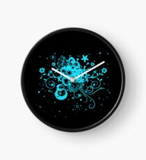 Floral Burst Clock