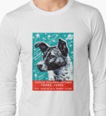 Camiseta de manga larga 1957 Laika el perro espacial