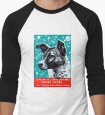 1957 Laika der Space Dog Baseballshirt für Männer