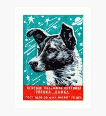 1957 Laika the Space Dog Art Print