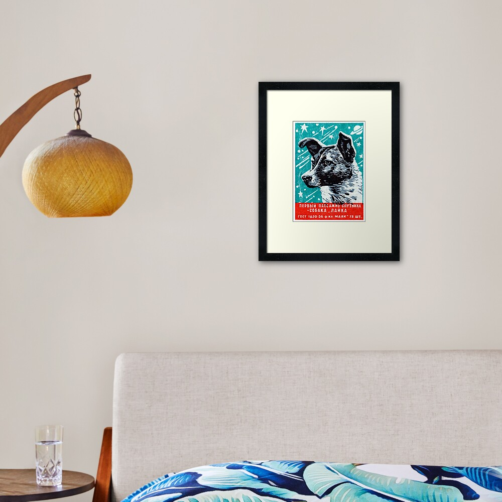 1957 Laika the Space Dog Framed Art Print