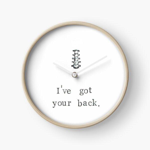 I've Got Your Back Clock