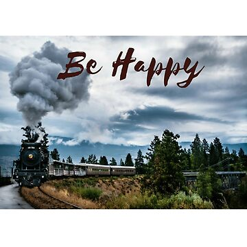 T-SHIRT  BE HAPPY TRAVELING OF TRAIN by Eduardo-Theo