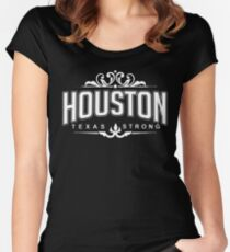 Houston Texas Strong - Hurricane Harvey Survivor Relief T-shirt Women's Fitted Scoop T-Shirt