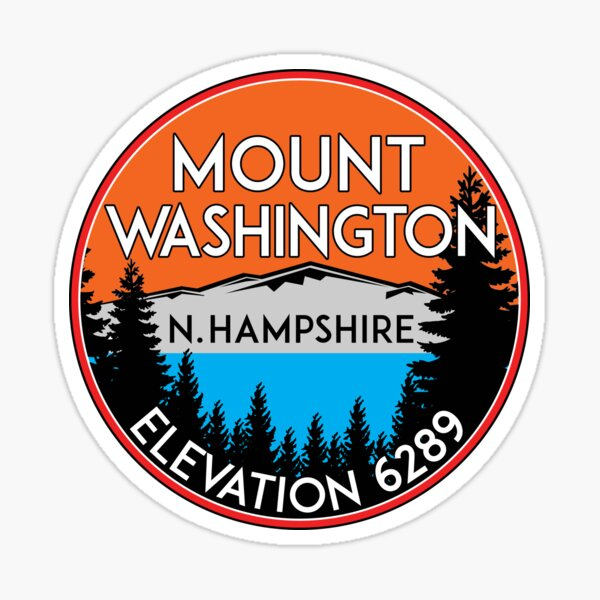 MOUNT WASHINGTON NEW HAMPSHIRE MOUNTAIN CLIMBING HIKING EXPLORE 5 Sticker