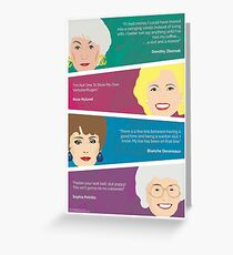 The Golden Girls Greeting Card with Quote Greeting Card